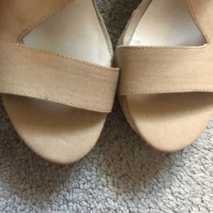 Fergalicious Shoes - Tan wedges! Brand new!
